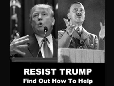 Resist Trump - Information about what you can do to stop President Donald Trump before he ruins the United States. Events, contact information, web sites and videos.