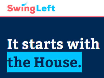Swing Left - Swing Left helps people find their nearest competitive congressional district where they can work to try to oust a Republican or support a Democrat ahead of the 2018 midterm election.