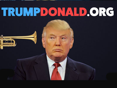 Trump Donald - an interactive website that allows people to honk a trumpet in Donald's face.