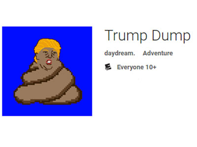 Trump Dump - An interactive, digital story that satirizes the candidate's policy proposals and mudslinging. In just its first eight days, it became the #2 overall app on the App Store's Top Charts.